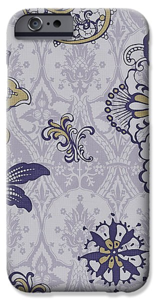 Deco Flower blue iPhone Case by JQ Licensing