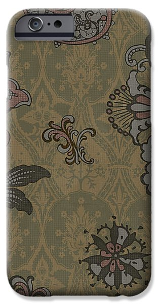 Deco Flower Brown iPhone Case by JQ Licensing