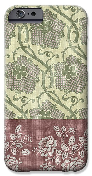 Deco Flower Patchwork 2 iPhone Case by JQ Licensing