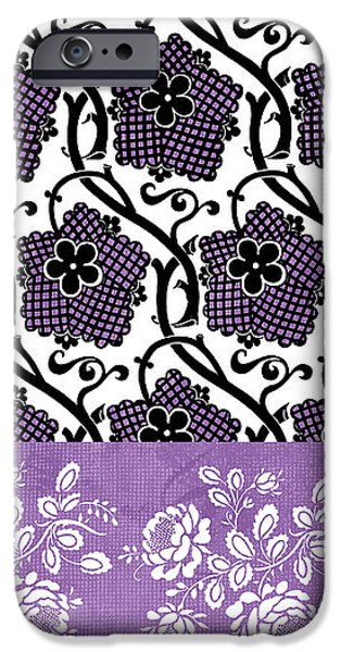 Deco Flower Patchwork 3 iPhone Case by JQ Licensing