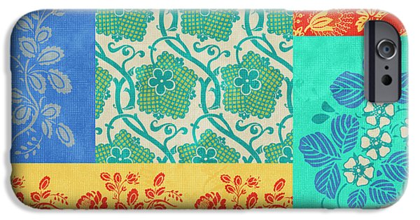 Fabric iPhone Cases - Deco Flowers iPhone Case by JQ Licensing