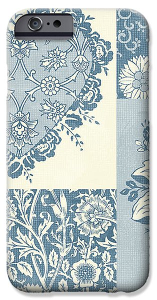 Deco Heart Blue iPhone Case by JQ Licensing