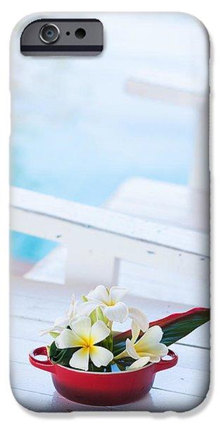 Aloha iPhone Cases - Decorated Plumeria iPhone Case by Atiketta Sangasaeng