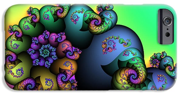 Fractal iPhone Cases - Decorated Snail iPhone Case by Jutta Maria Pusl