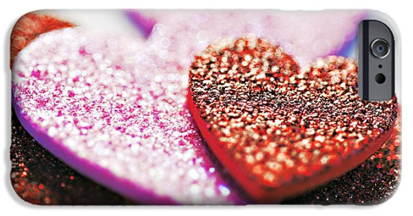 Shape iPhone Cases - Decorative Hearts iPhone Case by Ray Laskowitz - Printscapes