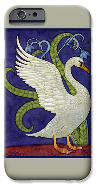 Swans... iPhone Cases - Decorative Swan iPhone Case by Francois Girard