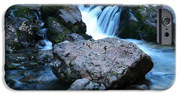River iPhone Cases - Deep creek flowing between the rocks iPhone Case by Jeff  Swan