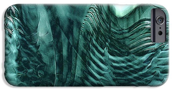 Energy Art Movement iPhone Cases - Deep In iPhone Case by Linda Sannuti