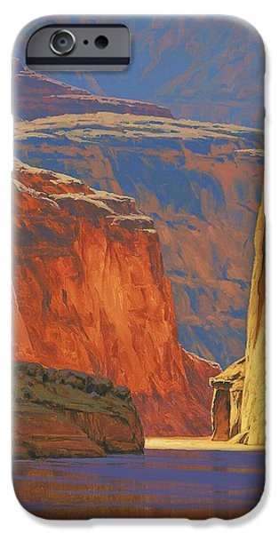 Canyons Paintings iPhone Cases - Deep in the Canyon iPhone Case by Cody DeLong
