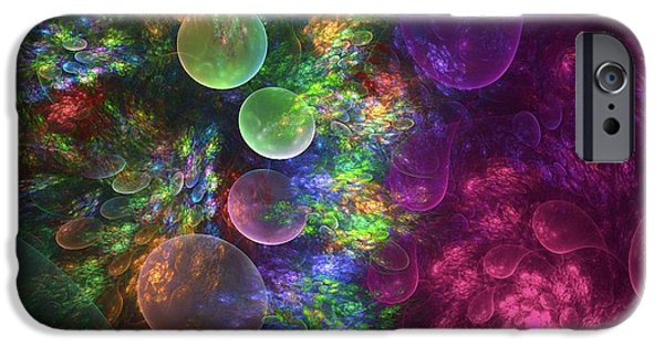 Floral Art iPhone Cases - Deep Sea Flora I iPhone Case by Amorina Ashton