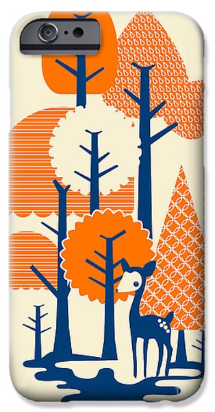 Deer Forester iPhone Case by Budi Satria Kwan