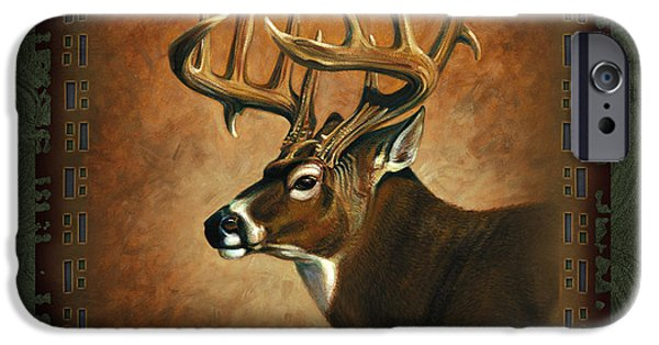 Woodland iPhone Cases - Deer Lodge iPhone Case by JQ Licensing