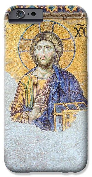 Deesis Mosaic of Jesus Christ iPhone Case by Artur Bogacki