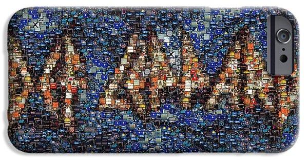 Def Leppard iPhone Cases - Def Leppard Albums Mosaic iPhone Case by Paul Van Scott