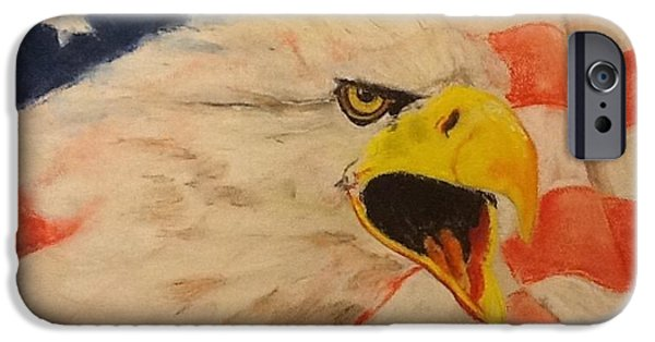 Eagle Pastels iPhone Cases - Defensive iPhone Case by Janice Curry
