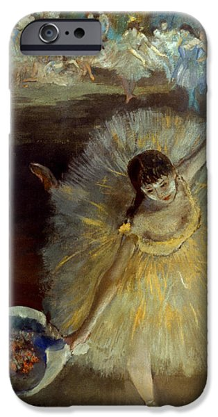 Aodcc iPhone Cases - Degas: Arabesque, 1876-77 iPhone Case by Granger