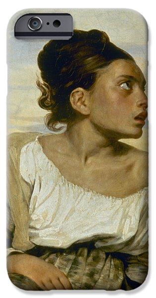 Delacroix iPhone Cases - Delacroix: Orphan, 1824 iPhone Case by Granger