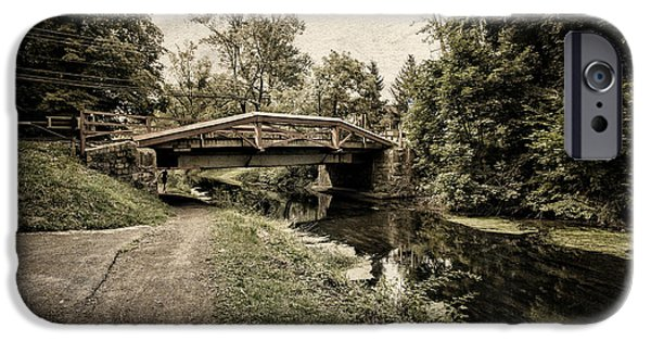 Pathway iPhone Cases - Delaware Canal iPhone Case by Tom Gari Gallery-Three-Photography