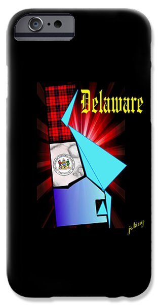 Constitution iPhone Cases - Delaware the First iPhone Case by Jacquie King