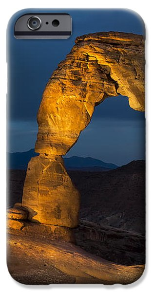 Delicate Arch at Night iPhone Case by Adam Romanowicz