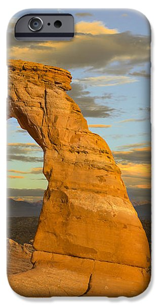 Delicate Arch at Sunset iPhone Case by Adam Romanowicz