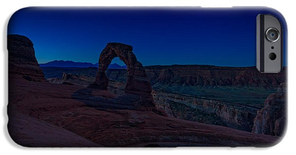 Delicate iPhone Cases - Delicate Arch In The Blue Hour iPhone Case by Rick Berk