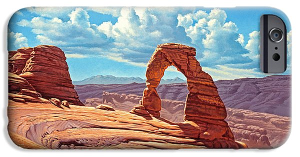 Arches iPhone Cases - Delicate Arch iPhone Case by Paul Krapf