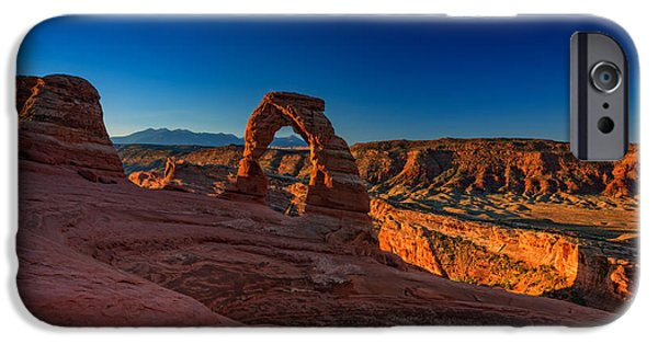 Delicate iPhone Cases - Delicate Arch iPhone Case by Rick Berk