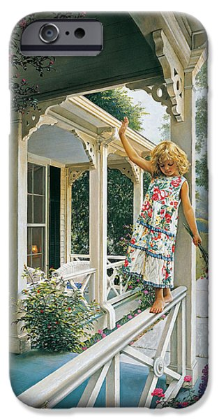 Little Girl iPhone Cases - Delicate Balance iPhone Case by Greg Olsen
