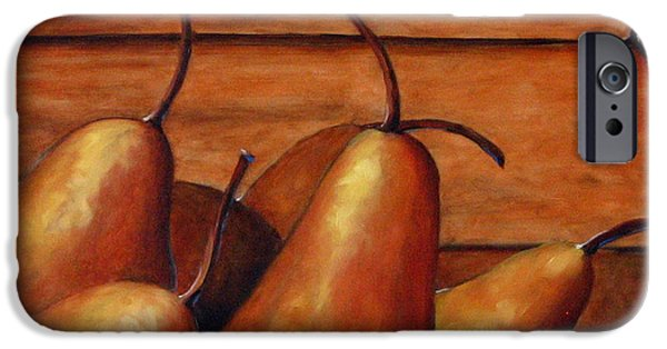 Canadiens Paintings iPhone Cases - Delicious Pears iPhone Case by Richard T Pranke