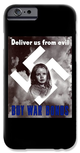 Political iPhone Cases - Deliver Us From Evil iPhone Case by War Is Hell Store