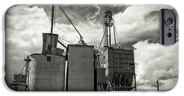 Technology iPhone Cases - Delta Colorado Grain Elevator iPhone Case by Janice Rae Pariza
