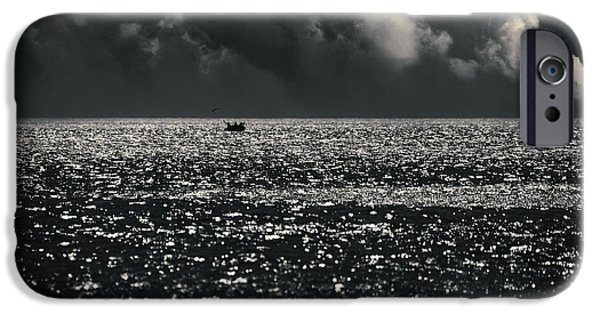 Ocean Of Emptiness iPhone Cases - Delusion iPhone Case by Taylan Soyturk