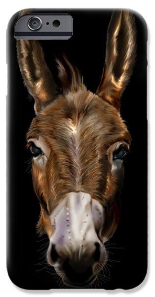 Politician iPhone Cases - Dem-Donkey iPhone Case by Reggie Duffie