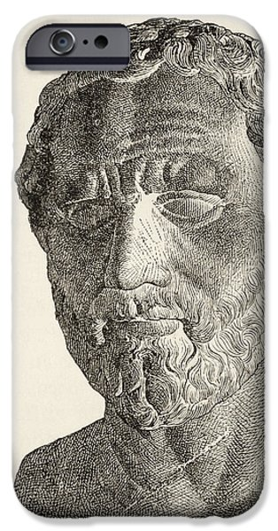 Politician iPhone Cases - Demosthenes, 384 iPhone Case by Ken Welsh