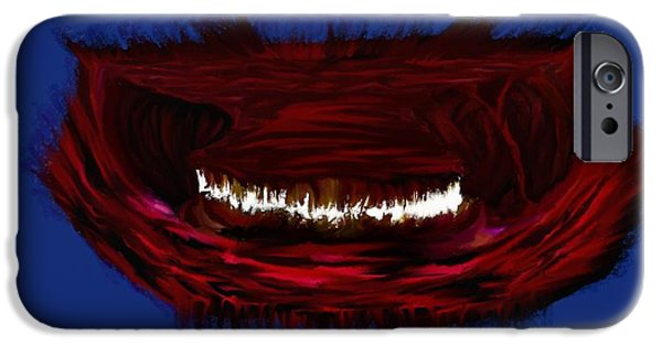 Bad Ass iPhone Cases - Hell Mouth iPhone Case by Adam Norman