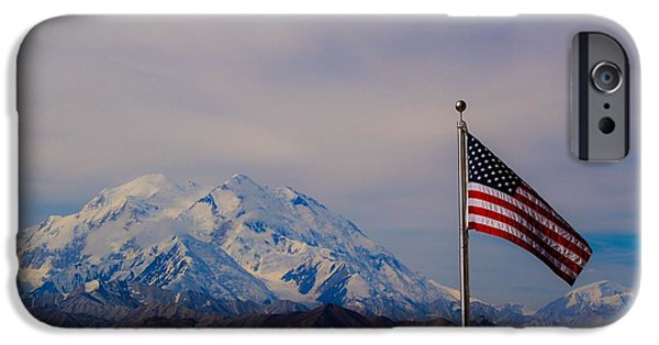 Flag iPhone Cases - Denali iPhone Case by Chris Hendricks