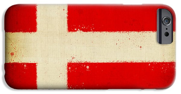 Denmark iPhone Cases - Denmark flag iPhone Case by Setsiri Silapasuwanchai