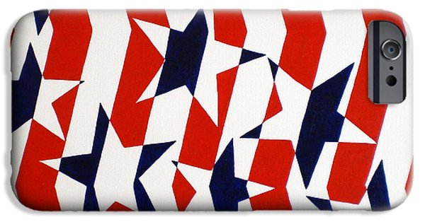 Star Spangled Banner Paintings iPhone Cases - Dennis Conner II iPhone Case by Oliver Johnston