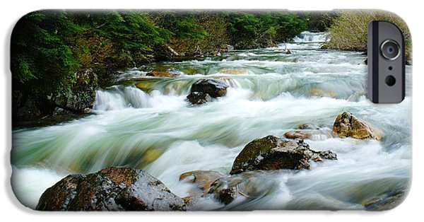River View iPhone Cases - Denny Creek  iPhone Case by Jeff  Swan