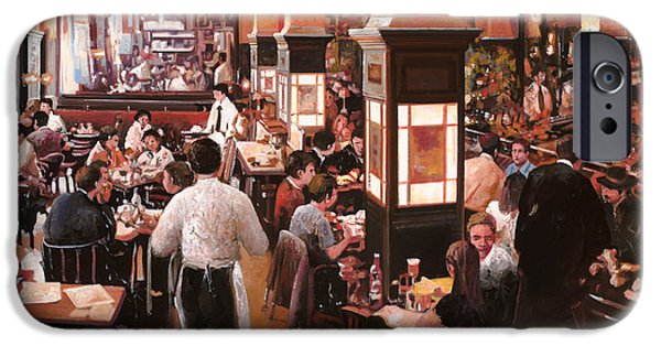 Shops iPhone Cases - Dentro Il Caffe iPhone Case by Guido Borelli