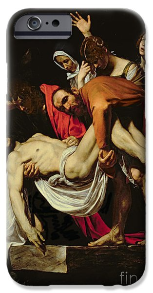 Tombs iPhone Cases - Deposition iPhone Case by Michelangelo Merisi da Caravaggio