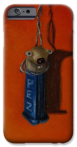 Strange iPhone Cases - Depressed Pez iPhone Case by Leah Saulnier The Painting Maniac