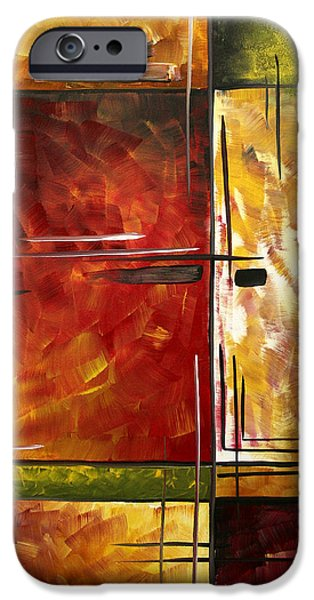 Fine Art Abstract iPhone Cases - Depth of Emotion by MADART iPhone Case by Megan Duncanson