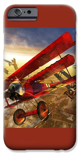 Der Rote Baron iPhone Case by Kurt Miller