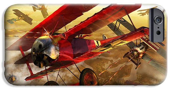Best Sellers -  - Wwi iPhone Cases - Der Rote Baron iPhone Case by Kurt Miller
