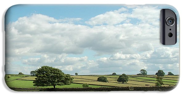 Meadow Photographs iPhone Cases - Derbyshire Landscape iPhone Case by Mini Arora