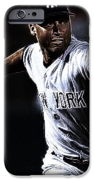 Derek Jeter iPhone Case by Paul Ward