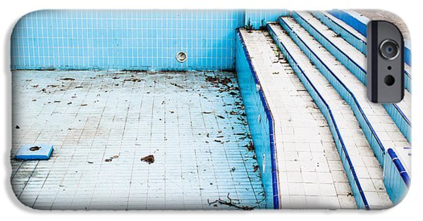 Alga Photographs iPhone Cases - Derelict pool iPhone Case by Tom Gowanlock