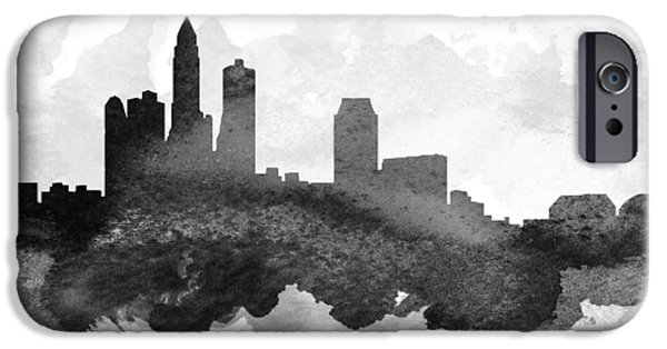 iPhone Cases - Des Moines Cityscape 11 iPhone Case by Aged Pixel